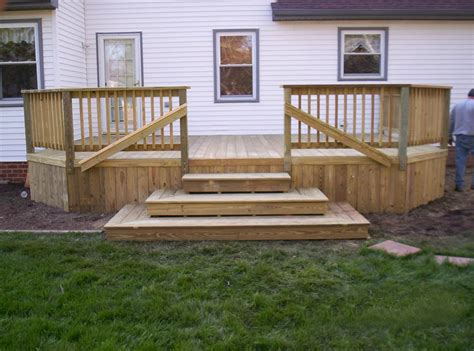 Deck Patio Design Pictures Pressure Treated All Wood Decks Acdecks