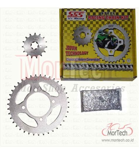 Gear Sinnob Jupiter Mx New Hitam Premium chain kit gear gir set sinnob new jupiter mx king 150