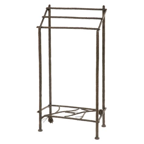 Wrought Iron Towel Rack by Wrought Iron Pine Collection Towel Rack By County