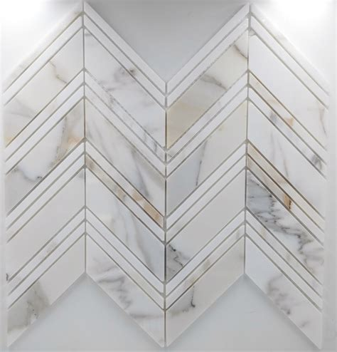 large pattern large chevron pattern calacatta collection glass tile home