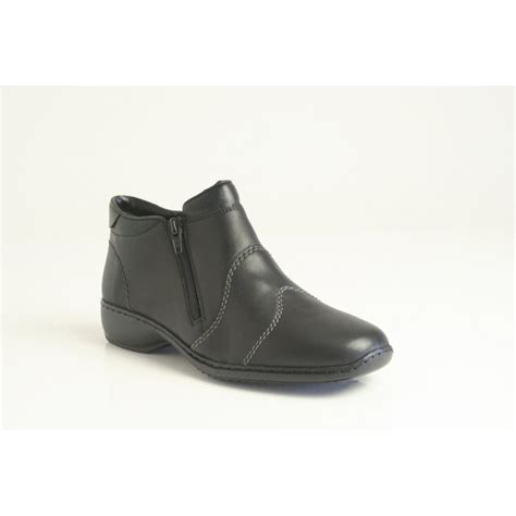 high cut shoes for rieker rieker high cut shoe in soft black leather with a