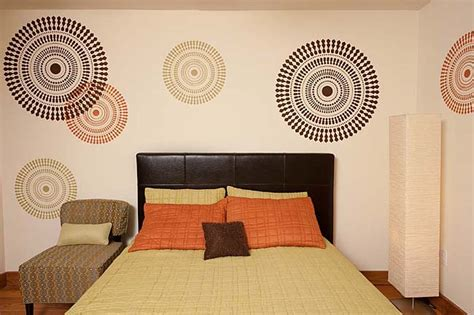 bedroom decorating idea modern stencils by cutting edge