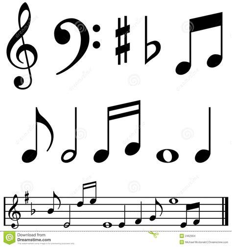 imágenes signos musicales notas y s 237 mbolos de la m 250 sica imagenes de archivo imagen