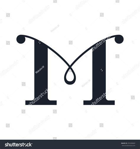 m m logo template letter m logo template stock illustration 295389869