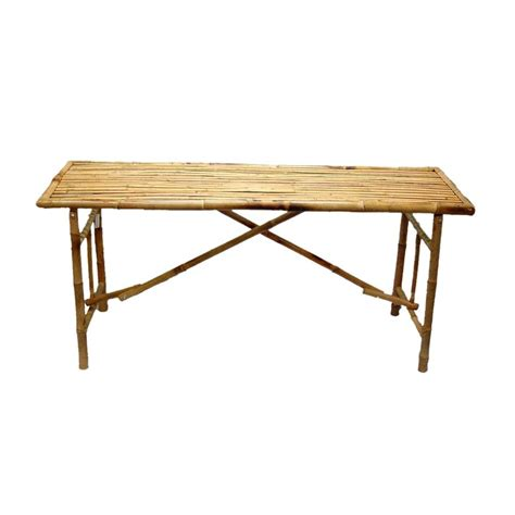 Wooden Folding Tables by Shop Bamboo 54 63 In X 20 In Rectangle Wood