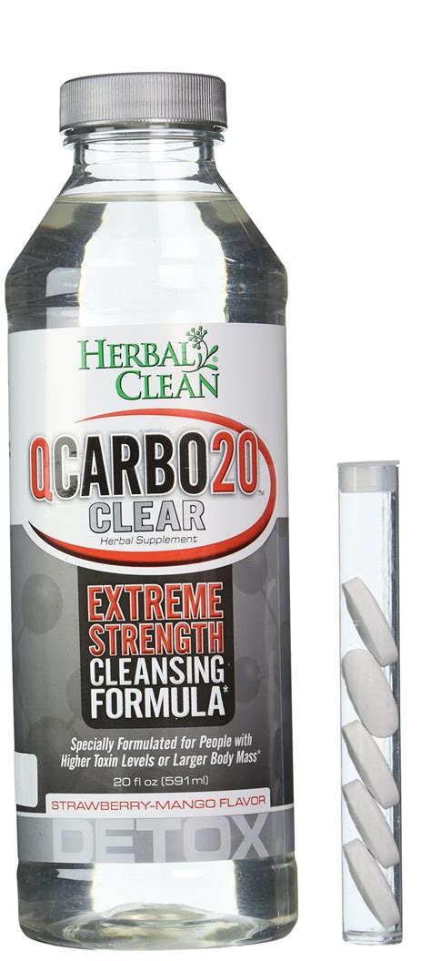 Herbal Clean Detox Supplements by Herbal Clean Qcarbo Liquid Detox Supplement Strawberry