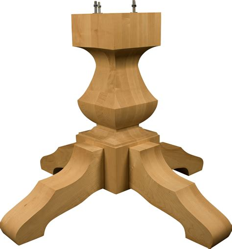 Wood Pedestal Table Base by Dining Table Unfinished Dining Table Pedestals