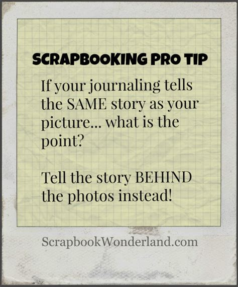 Scrapbook Tip Of The Day Journalling By Your Significant Others by Featured On The Scrap Gals Podcast