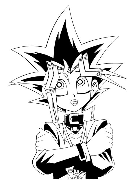 Letter Yugioh Yu Gi Oh Coloring Pages