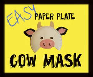 Fil A Cow Mask Template by Paper Plate Cow Masks Messymom