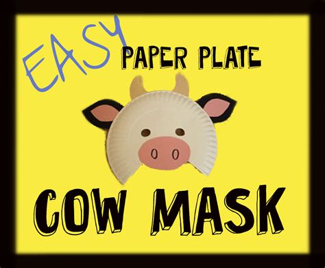 fil a cow mask template paper plate cow masks messymom