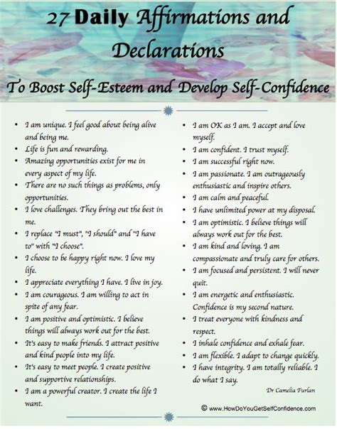 27 Positive Self Affirmations For 11 Aspects Of by Best 25 Self Confidence Tips Ideas On