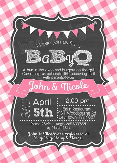 free baby q invitations templates baby q shower invitation bbq joint baby shower barbeque