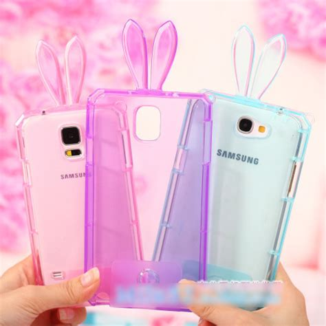 cute themes for samsung note 3 cute transparent clear rabbit bunny ear tpu gel skin cases