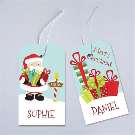 printable christmas tags personalized 10 printable holiday gift tags from etsy