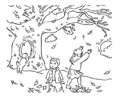 fall coloring sheet autumn season coloring pages coloring