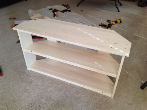 building a corner tv cabinet 20 best images about diy corner tv stands on pinterest