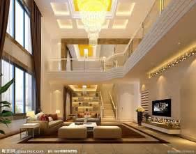 家装豪华别墅客厅设计图 室内设计 环境设计 设计图库 昵图网nipic com