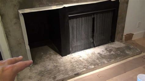 epoxy seal concrete fireplace surround  youtube