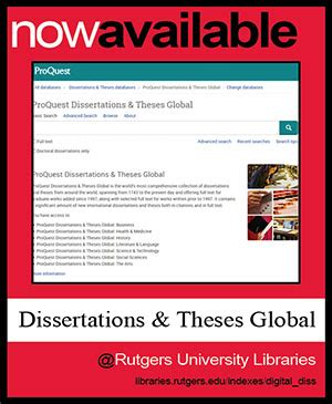 dissertations and theses text new resource proquest dissertations and theses global