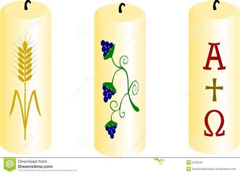 candela battesimale candele di battesimo fotografia stock immagine 5123120