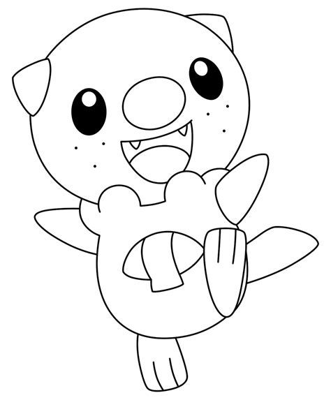 coloring pages of pokemon oshawott lineart oshawott by kizarin on deviantart