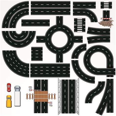 creative road design elements vector creative road design elements vector 01 vector traffic