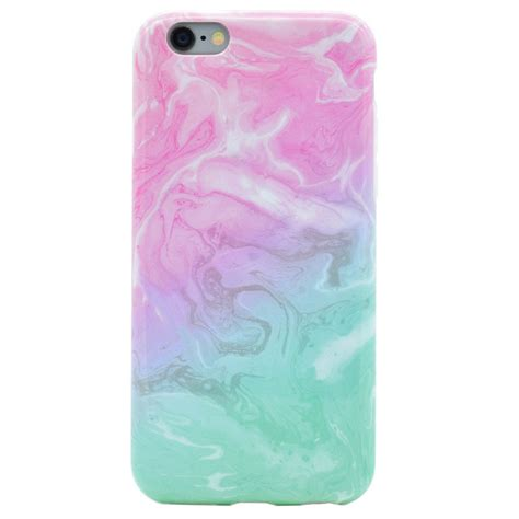 Softcase Cover Silicon Iphone 7 Plus simple granite marble matte silicone tpu soft cover