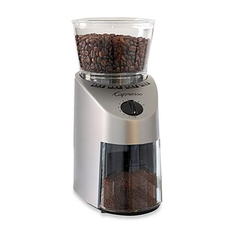 coffee grinder bed bath and beyond buy capresso 174 infinity conical burr coffee grinder from
