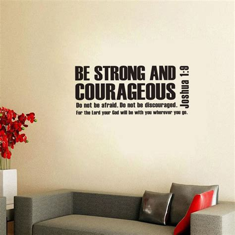 scripture wall art home decor dctop joshua 1 9 be strong and courageous bible verse