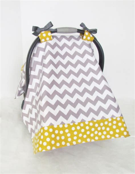 infant car seat slipcover infant car seat cover baby canopy grey and white chevron and