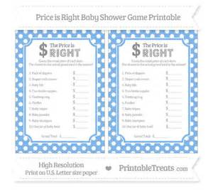 pastel blue polka dot price is right baby shower