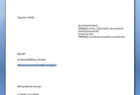 Einen Briefvorlage Adressverwaltung Gt Wie Kann Ich Gt Einen Serienbrief Erstellen