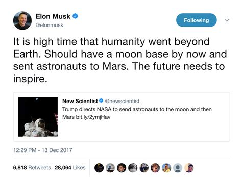 elon musk goals why elon musk agrees with trump s space policy big think