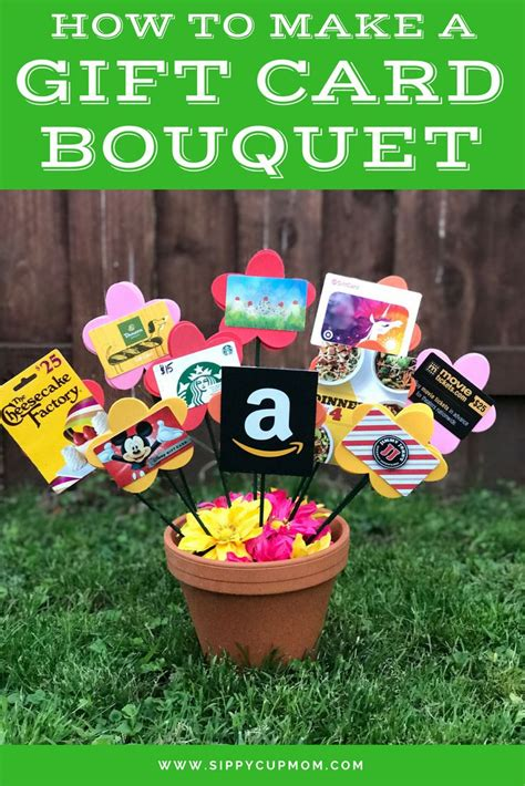how to make a great card 25 best ideas about gift card bouquet on