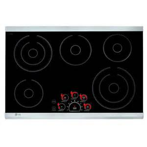 30 Inch Electric Cooktop Lg 30 Inch 5 Element Smooth Surface Electric Cooktop