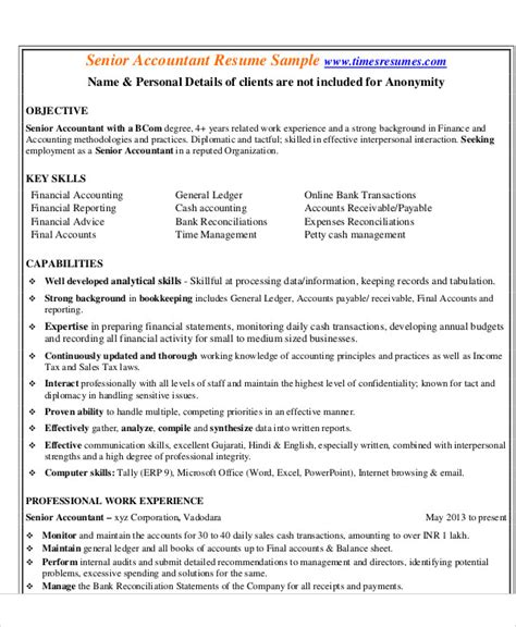 Senior Resume Template by Senior Accountant Resume Sles Texasconnection Co