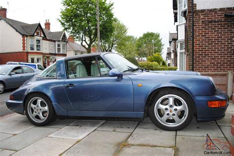 1990 porsche 911 blue porsche carrera 4 911 964 targa in baltic blue