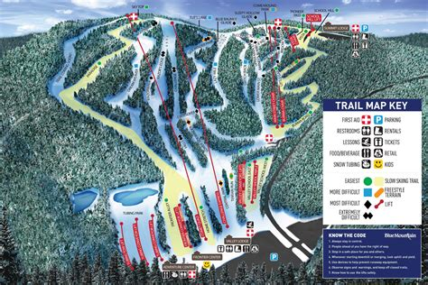 Blue Knob Trail Map by Blue Mountain Ski Resort Ski Resorts In Pa