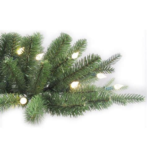 aspen fir ge 7 5 ft pre lit led indoor just cut deluxe aspen fir artificial tree with color