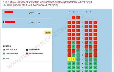 Kursi Gratis Air Asia air cara web check in dan pilih kursi gratis