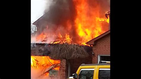 house catches on fire brton house fire home engulfed in flames caught on video youtube