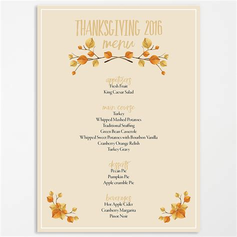 free thanksgiving menu templates editable thanksgiving menu ama vita designs