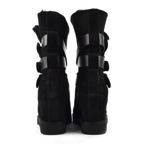 buy ash yes yes taupe fleece lined wedge buckle boot