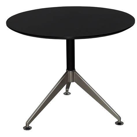 Black Meeting Table 35 In Melamine Top Meeting Table Black National Office Interiors And Liquidators