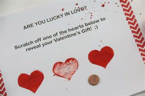 scratch valentines s day scratch cards diy easy to do how