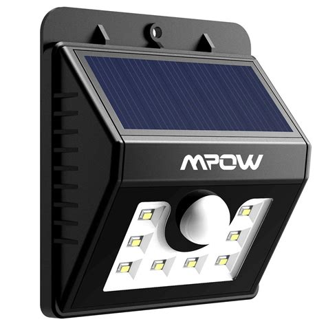 mpow solar powered wireless motion sensor light best price
