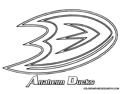 free coloring pages of hockey logo