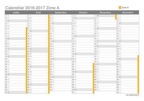 Calendrier 2016 Avec Vacances Scolaires Zone B à Imprimer Vacances Scolaires 2016 2017 Zone A Calendrier Et Dates