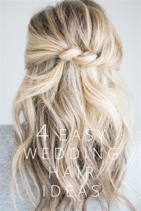 4 easy wedding hair ideas the small things hair nails make up diy wedding hair